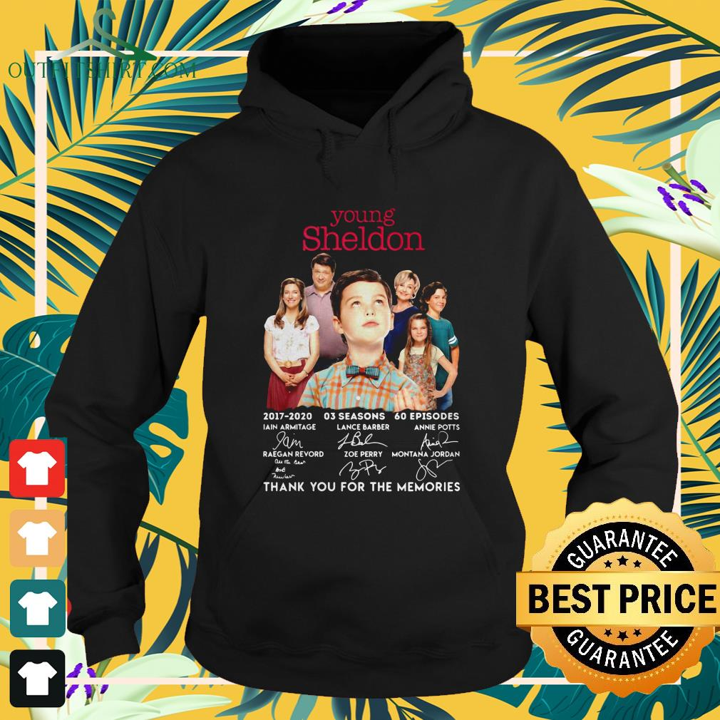 young sheldon 2017 2020 signature thank you for the memories hoodie