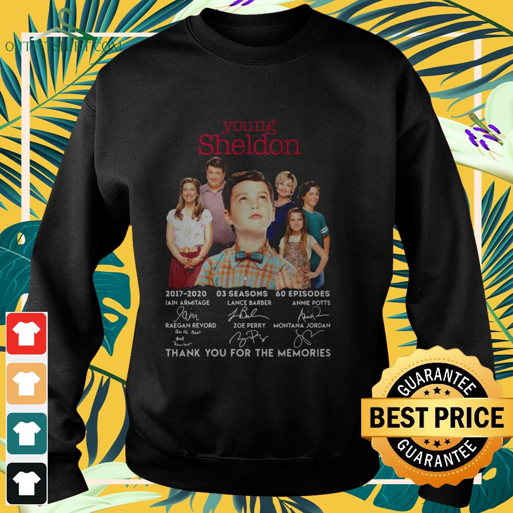 young sheldon 2017 2020 signature thank you for the memories sweater