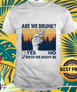 Are we drunk yes or no and bitch we might be vintage shirt