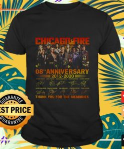 Chicago Fire 08th anniversary 2012-2020 thank you for the memories shirt