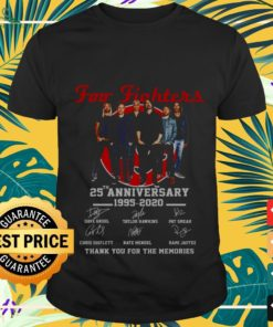 Foo Fighters 25th anniversary thank you for the memories shirt