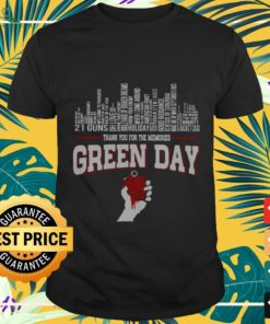 Green Day city songs Thank you for the memories shirt