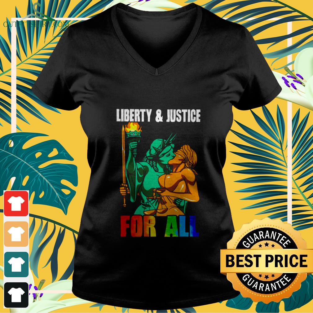 Liberty and justice for all LGBT shirt