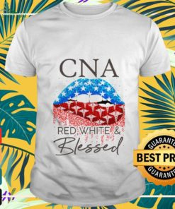 Lips CNA red white and blessed shirt