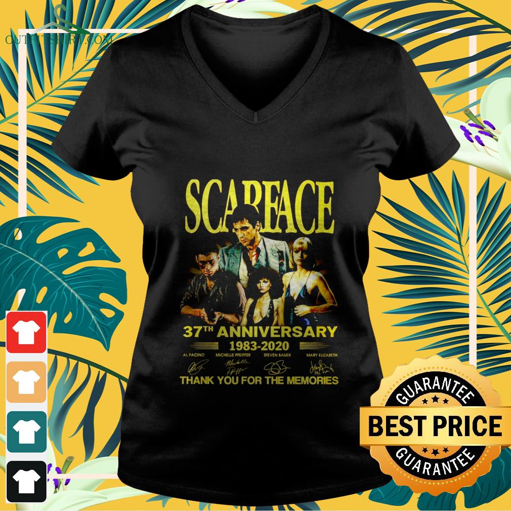 Scarface 37th anniversary 1983-2020 thank you for the memories shirt