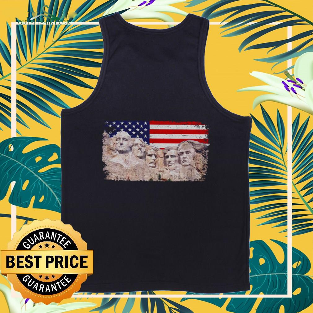 45th added to Rushmore mount Tank-top