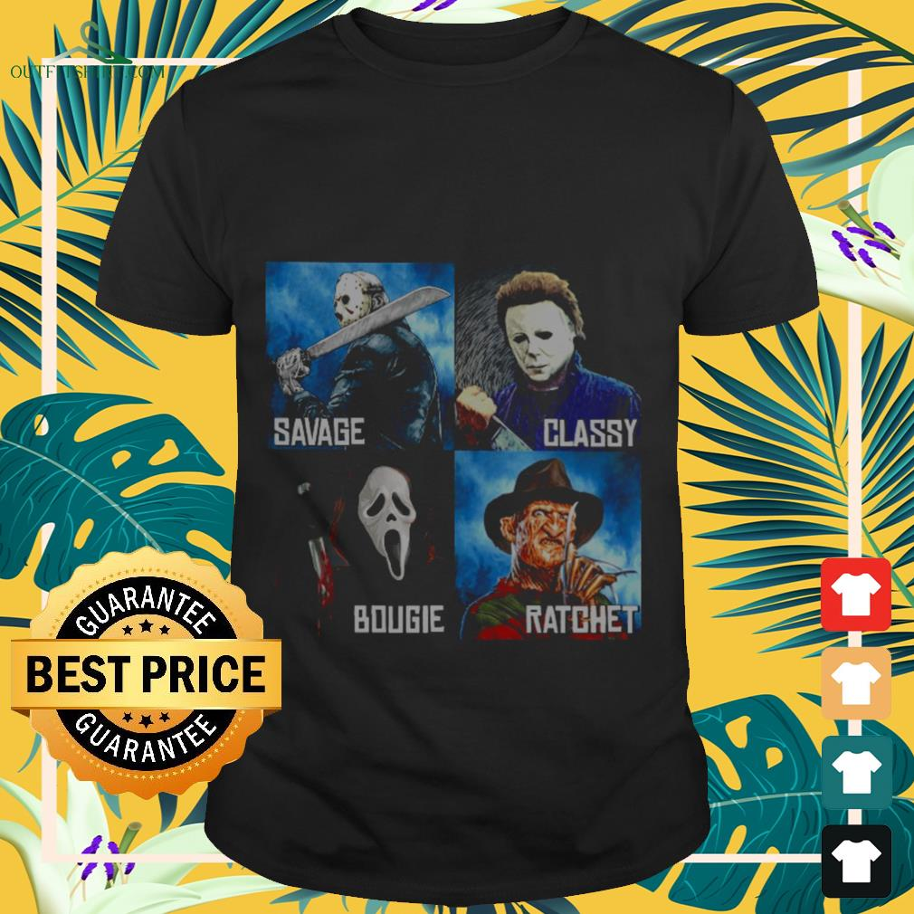 Horror Movies characters savage classy bougie ratchet shirt