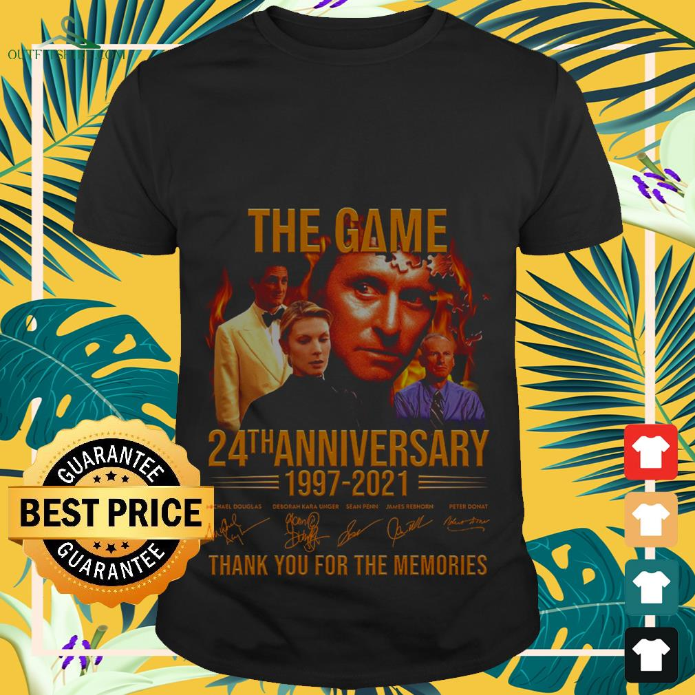 The Game 24th anniversary 1997-2021 thank you for the memories shirt