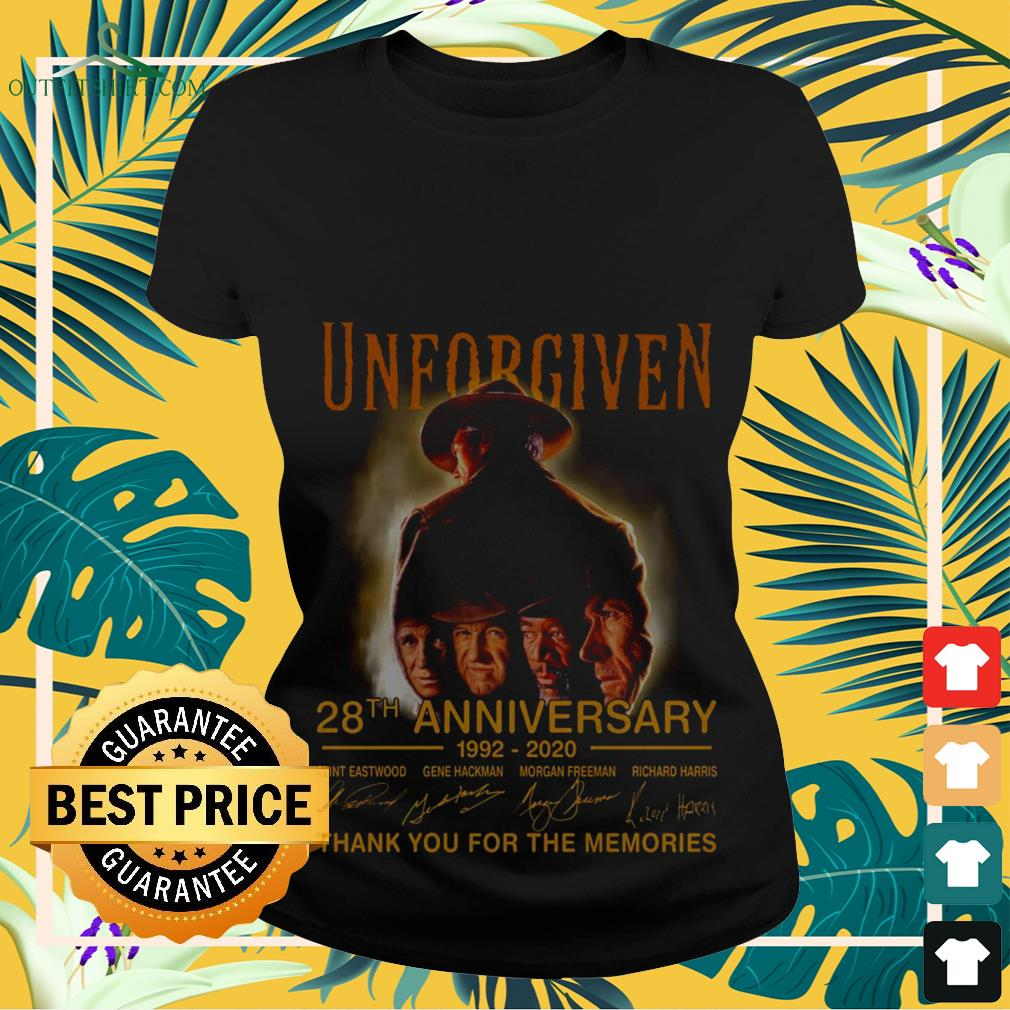 Unforgiven 28th anniversary 1992 2020 thank you for the memories Ladies-tee