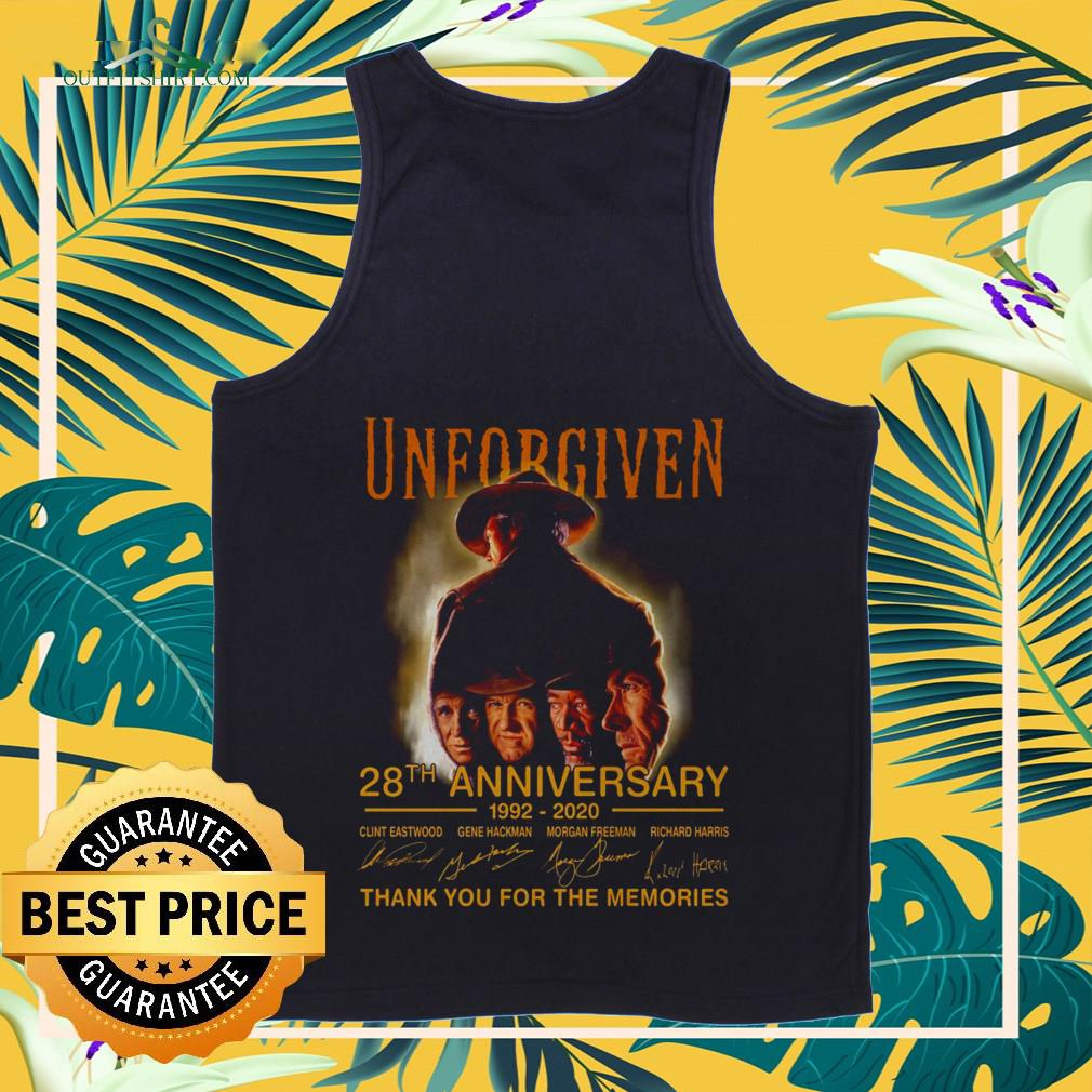 Unforgiven 28th anniversary 1992 2020 thank you for the memories Tank-top