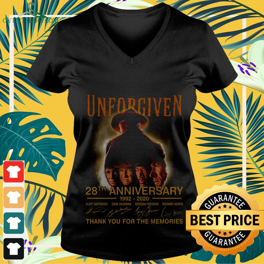 Unforgiven 28th anniversary 1992 2020 thank you for the memories V-neck t-shirt
