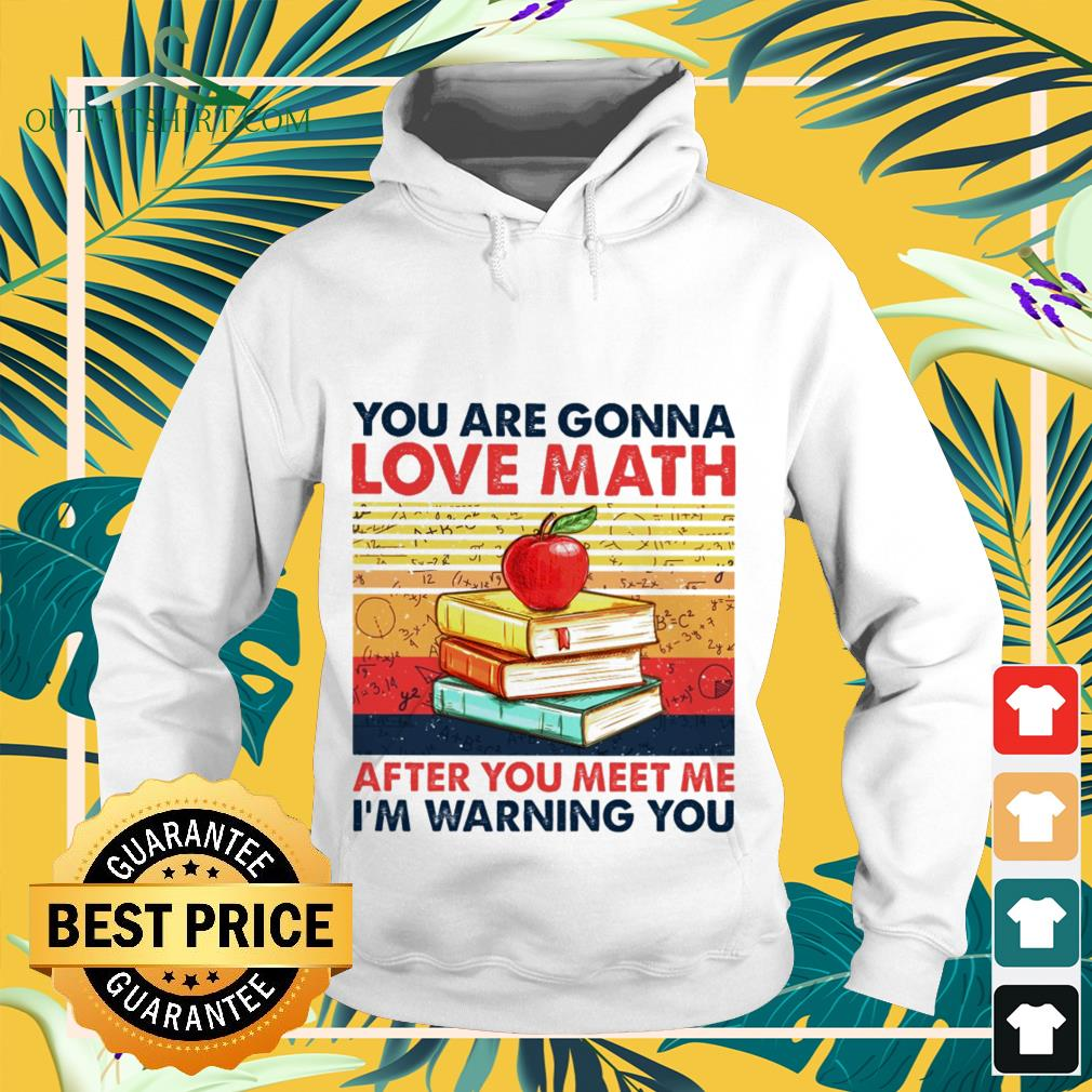 You are gonna love math after you meet me I'm warning you vintage Hoodie