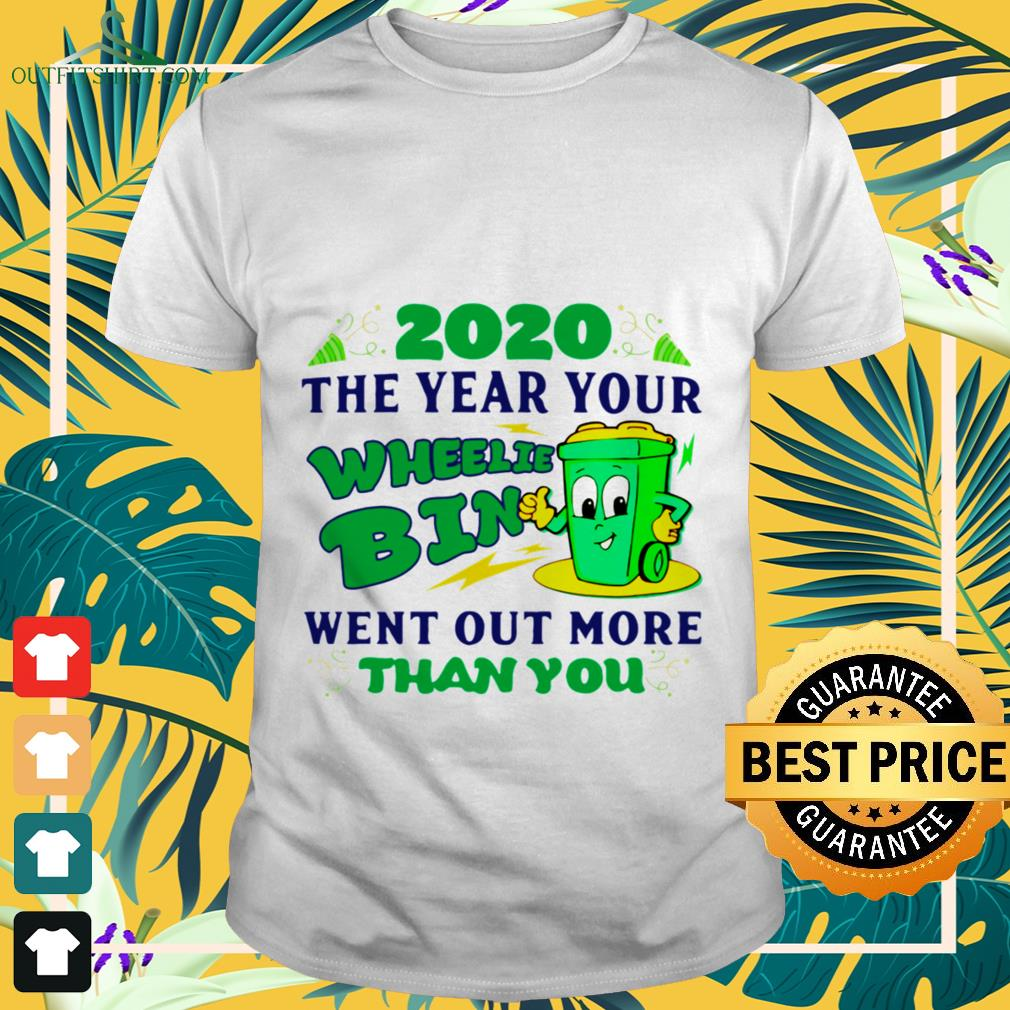 2020 the year your wheelie bin went out more than you shirt