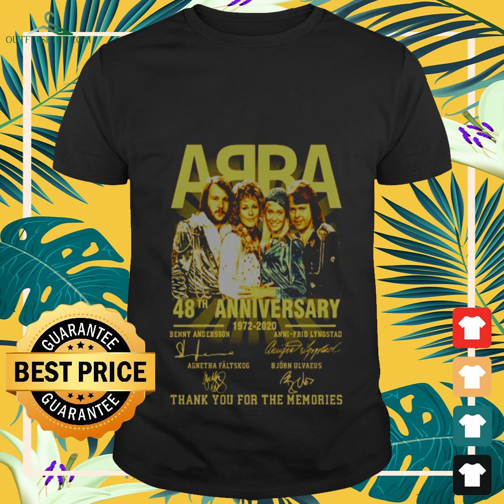 ABBA 48th Anniversary 1972-2020 signature thank you for the memories T-shirt