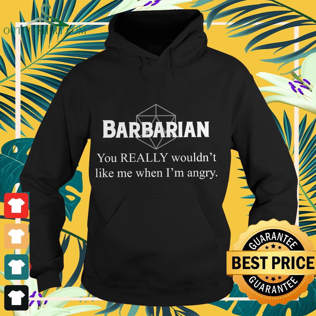 Barbarian you really wouldn't like me when I'm angry Hoodie