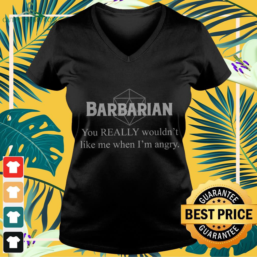 Barbarian you really wouldn't like me when I'm angry  V-neck t-shirt