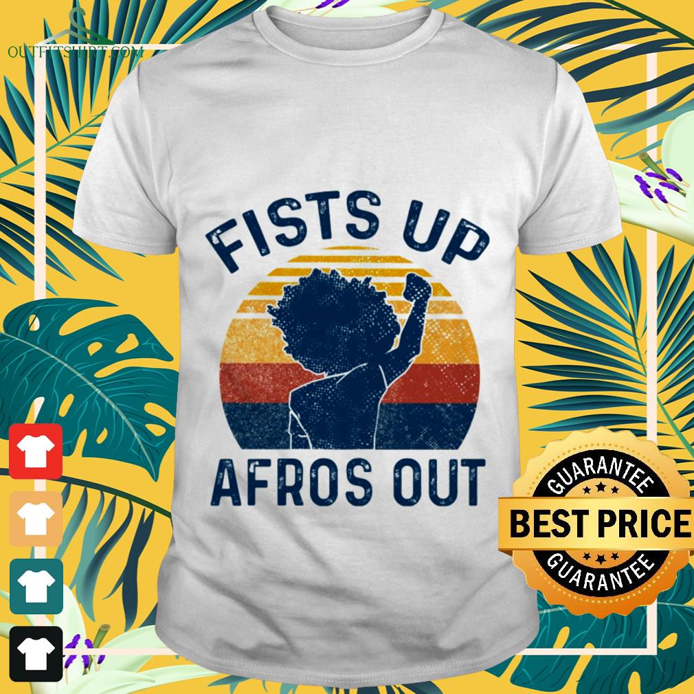 Fists up Afros out vintage shirt