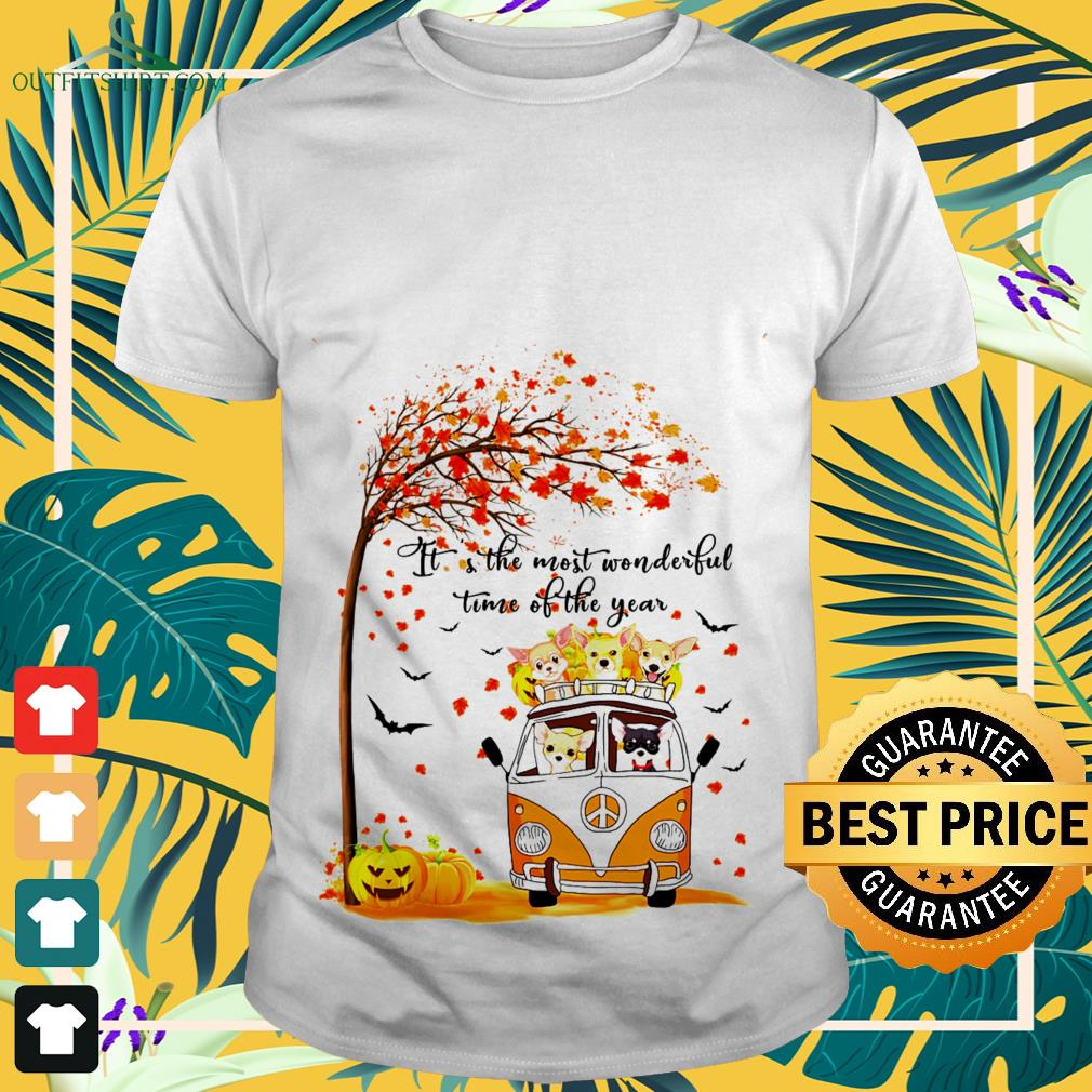 Halloween autumn Chihuahua it's the most wonderful time of the year shirt