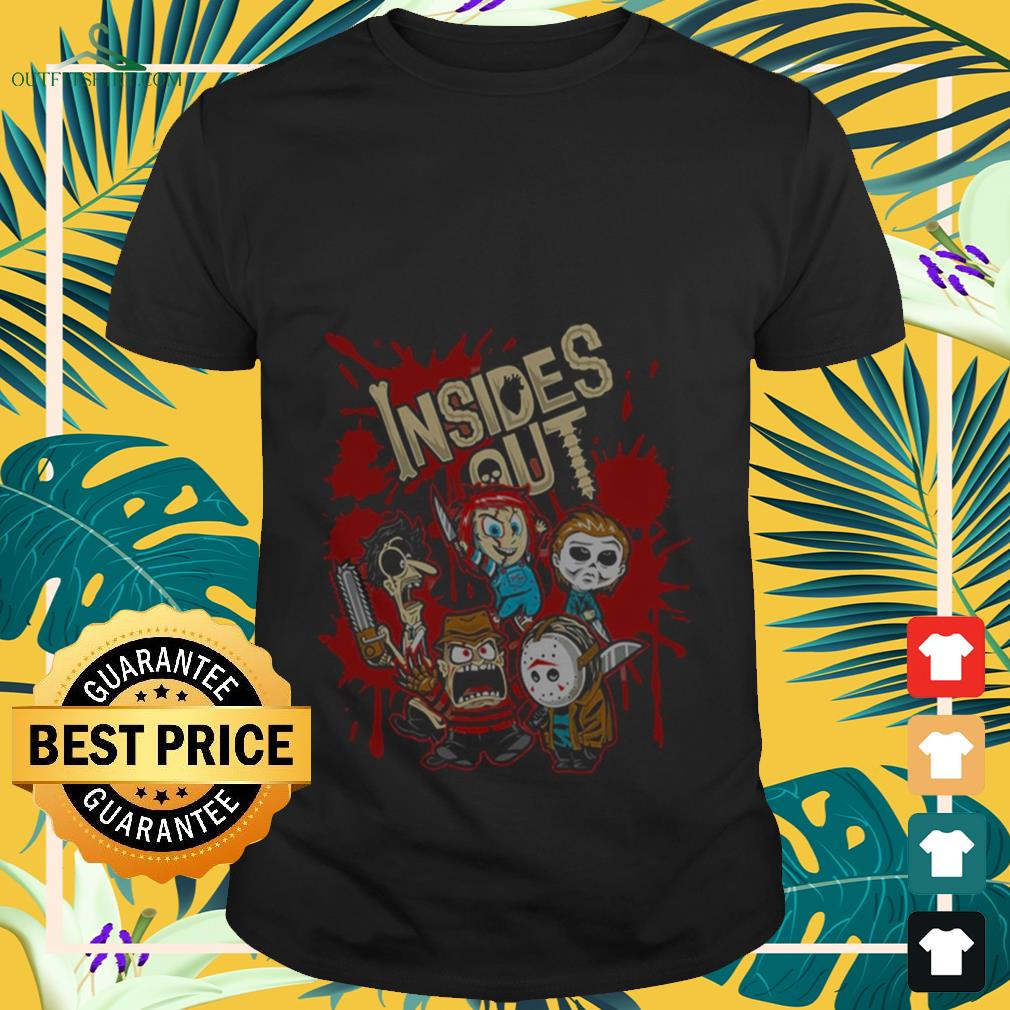 Halloween horror characters chibi insides out shirt