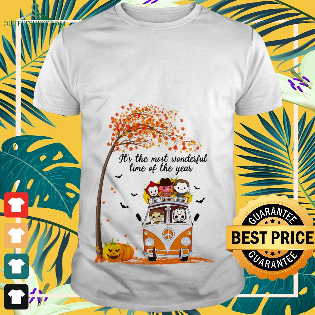 Halloween horror characters chibi it's the most wonderful time of the year shirt