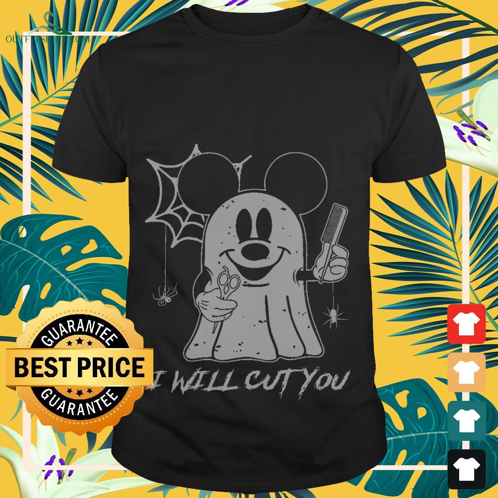 Halloween Mickey mouse boo ghost I will cut you shirt