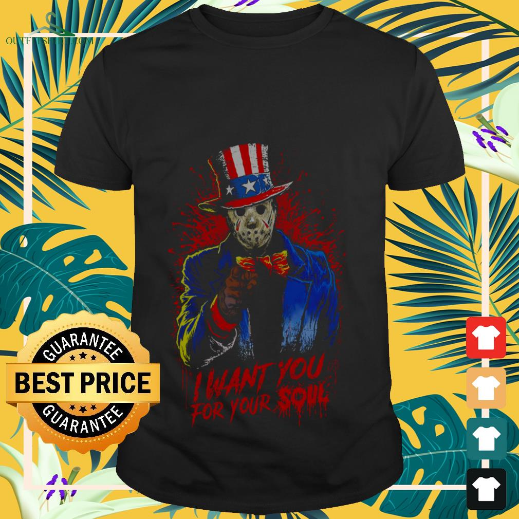 Halloween Uncle Sam Jason Voorhees I want you for your soul shirt