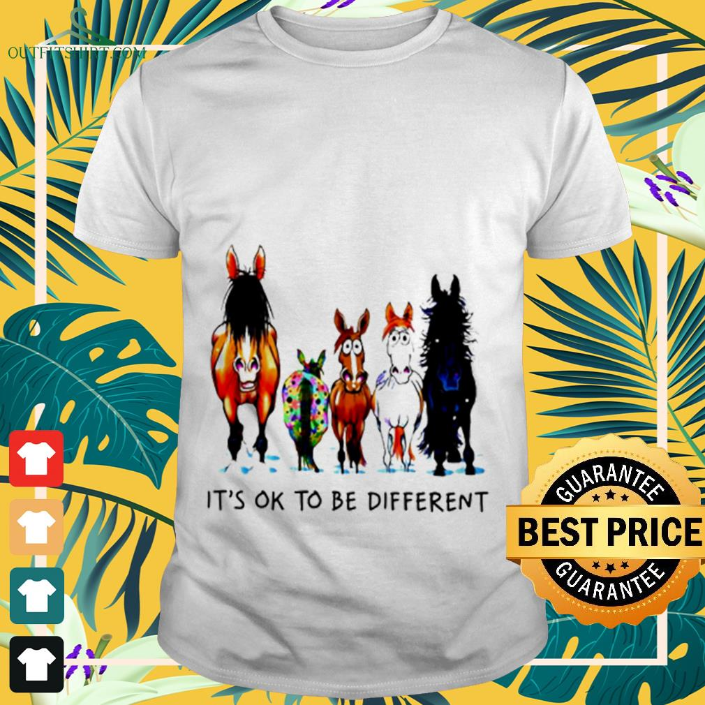 Horses autism It's ok to be different shirt