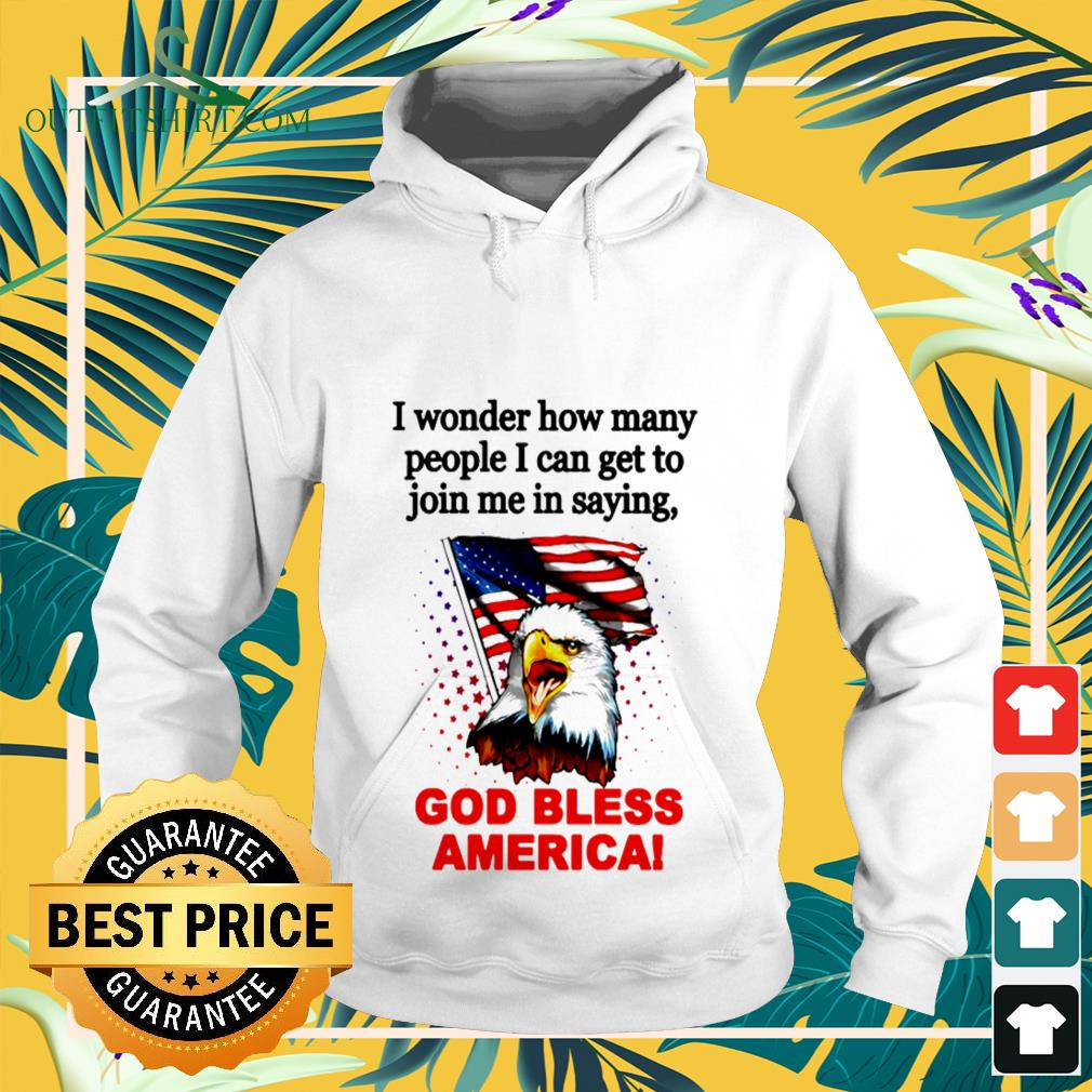 I wonder how many people I can get to join me in saying God bless America Hoodie