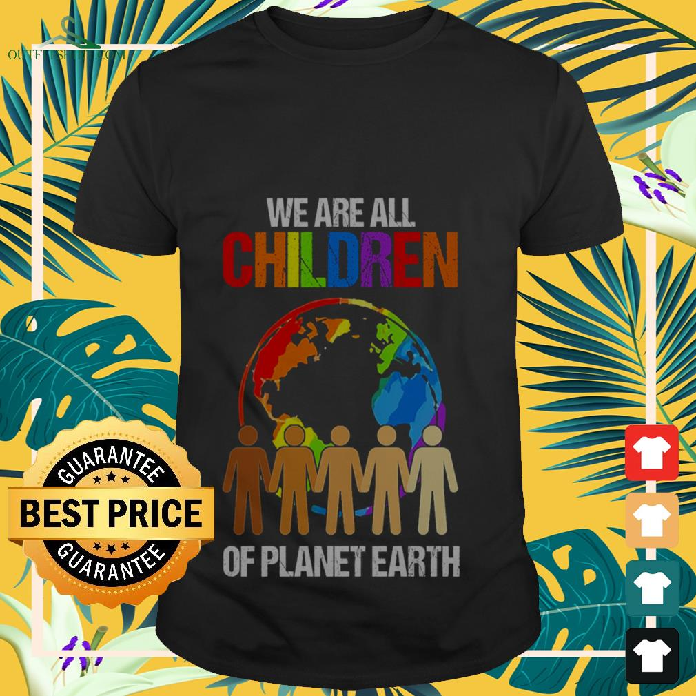 LGBT we are all children of planet earth shirt
