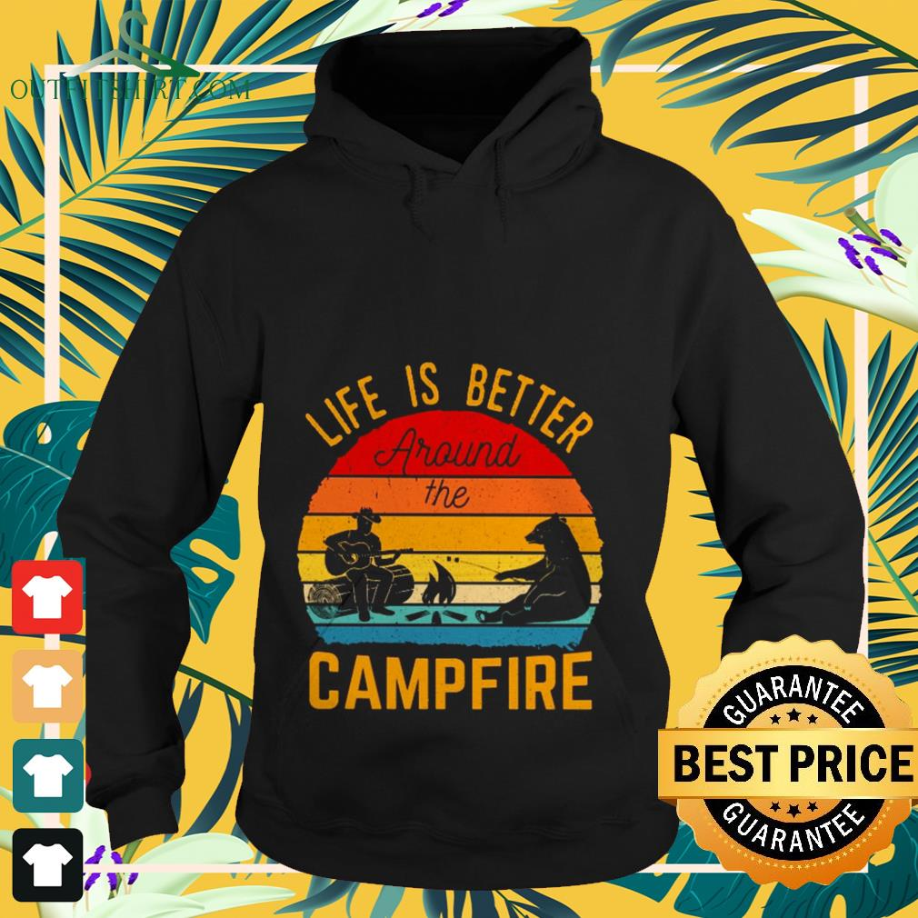 Life is better around the campfire vintage Hoodie