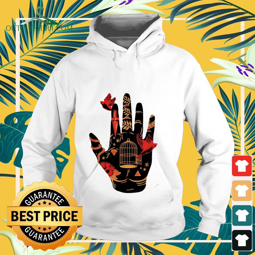 Palmistry hand witch halloween Hoodie