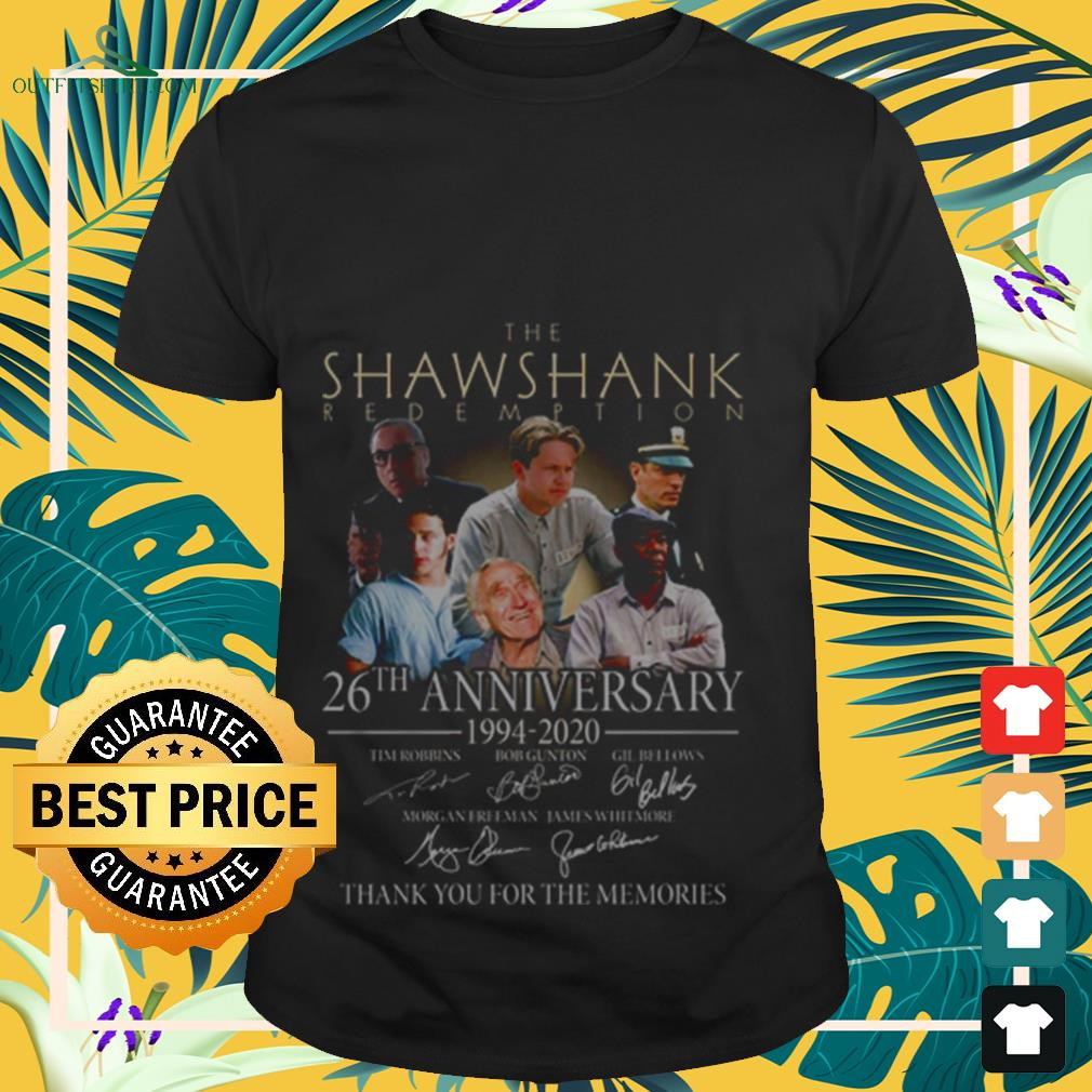 The shawshank redemption 26th anniversary signature shirt
