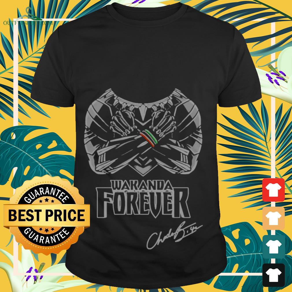 Wakanda forever signature Both arms held crossed across chest shirt