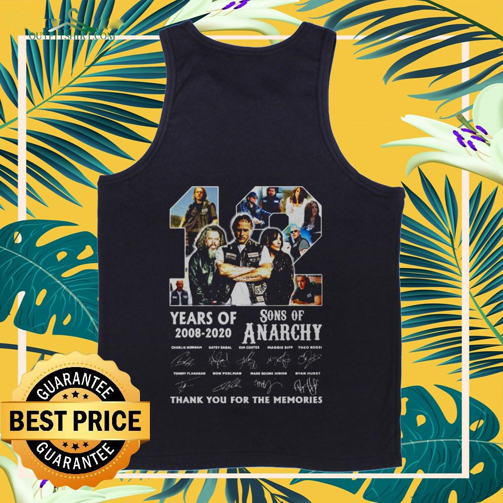 12 years old 2008 2020 Son of Anarchy signature thank you for the memories tanktop
