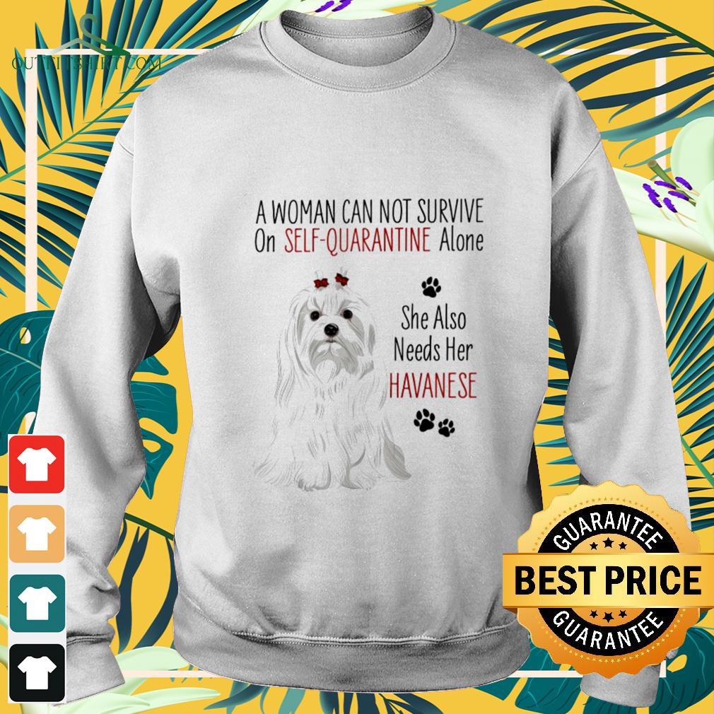 A woman can not survive on self-quarantine alone she also needs her Havanese covid-19 sweater