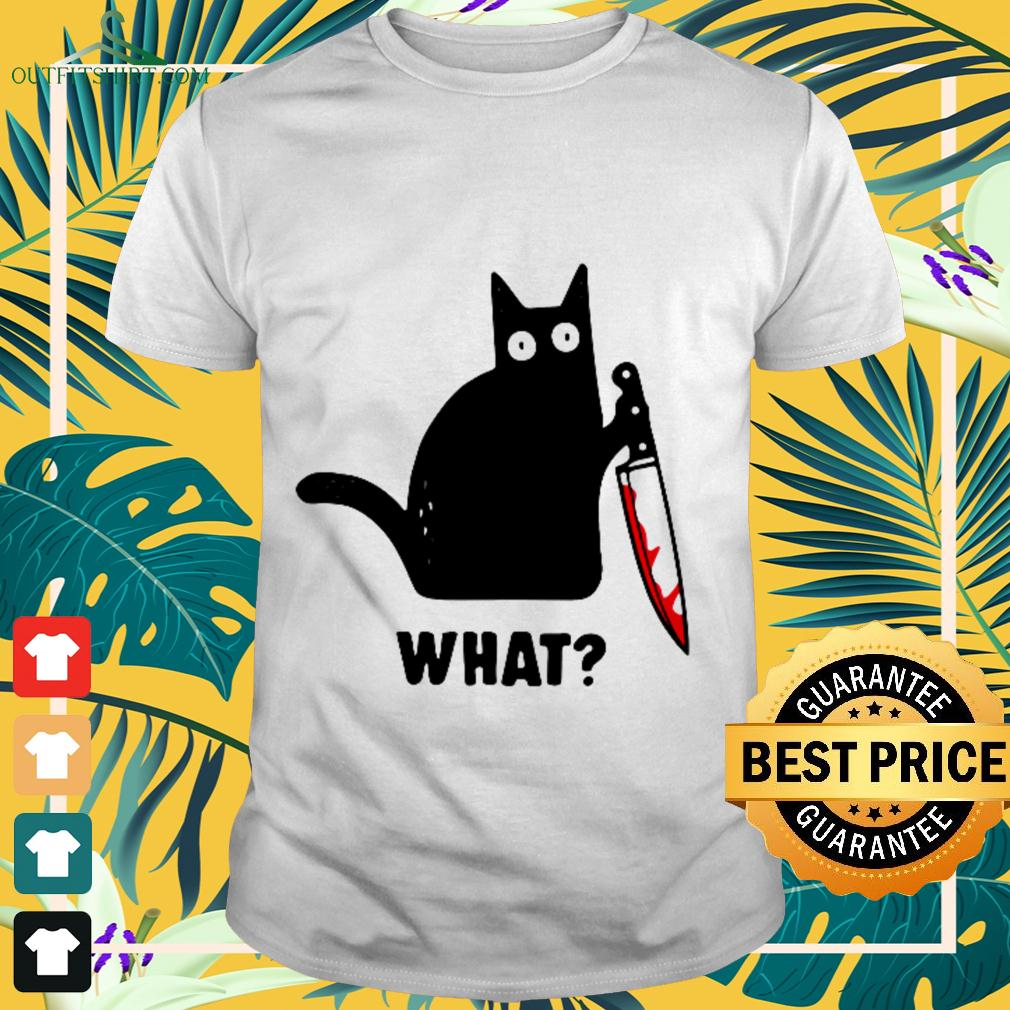 Black cat blood what funny t-shirt