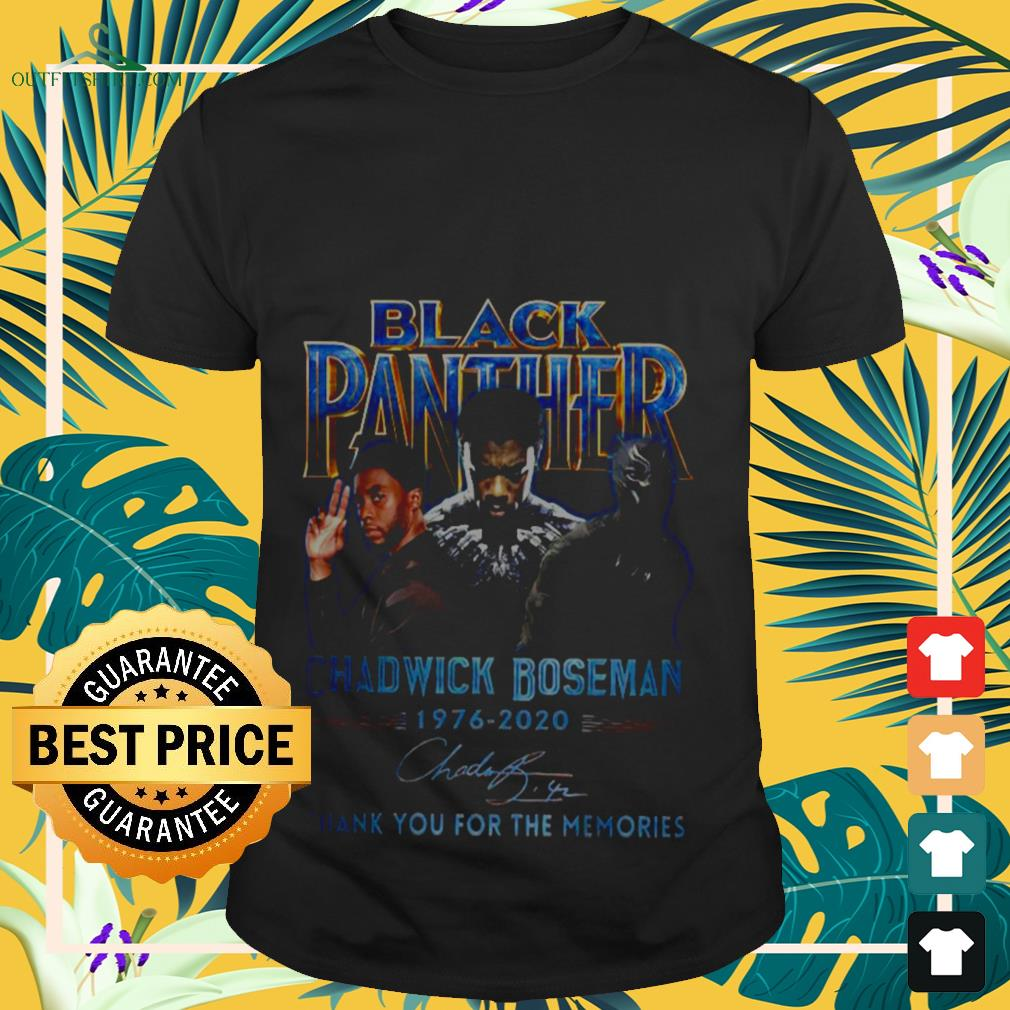 Black Panther Chadwick Boseman 1976 2020 thank you for the memories signature shirt
