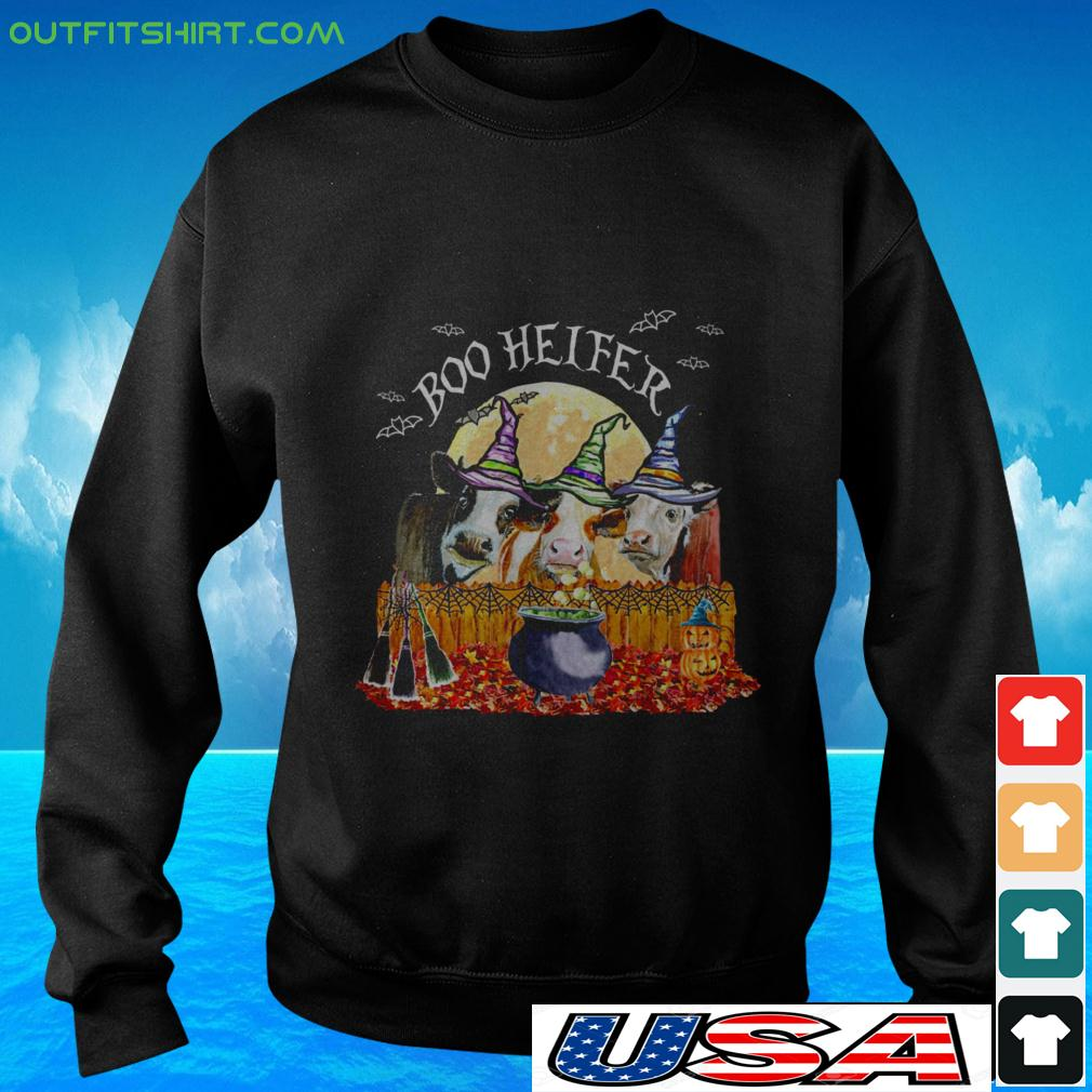 Cows witch boo helfer halloween sweater