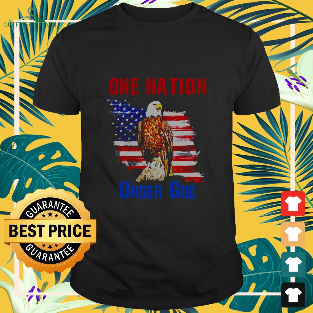 Eagle America flag One nation under God t-shirt