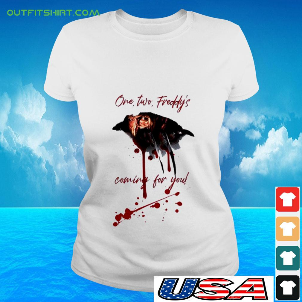 Freddy Krueger one two freddy's coming for you halloween ladies-tee