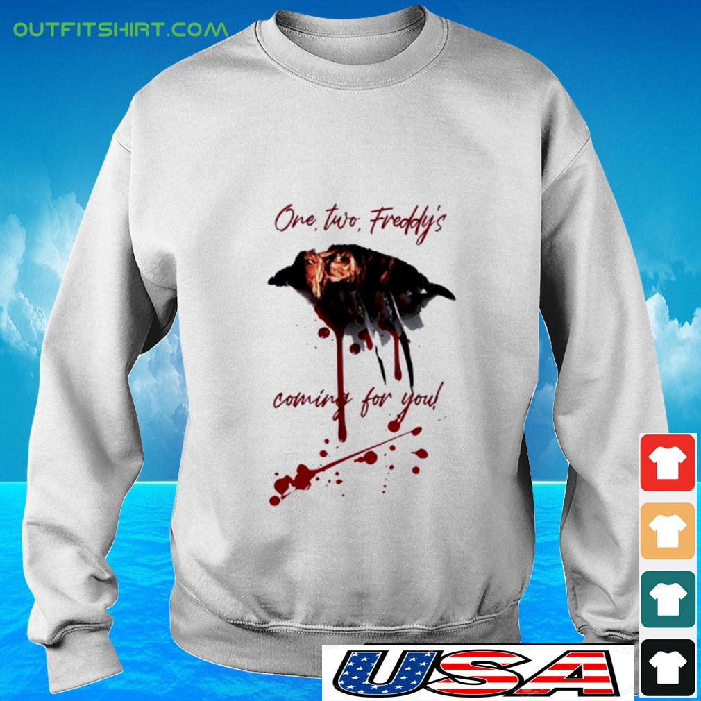 Freddy Krueger one two freddy's coming for you halloween sweater