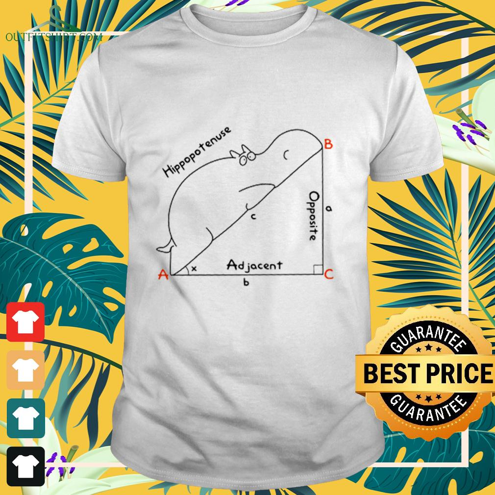 Hippopotenuse Adjacent Opposite t-shirt