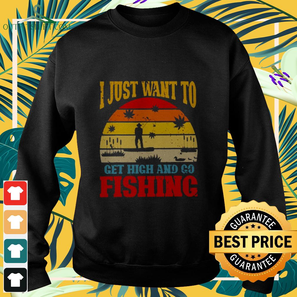 I just want to get high and go fishing vintage sweater