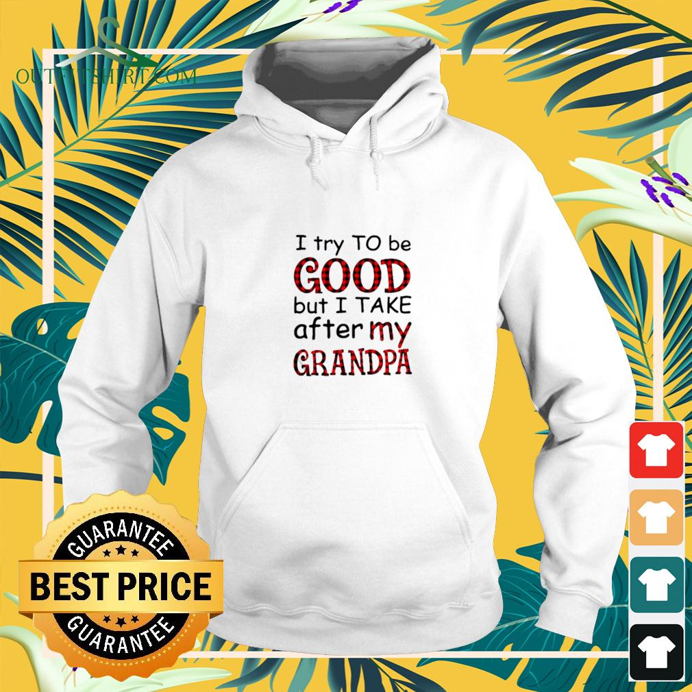 I try to be good but I take after my grandpa hoodie