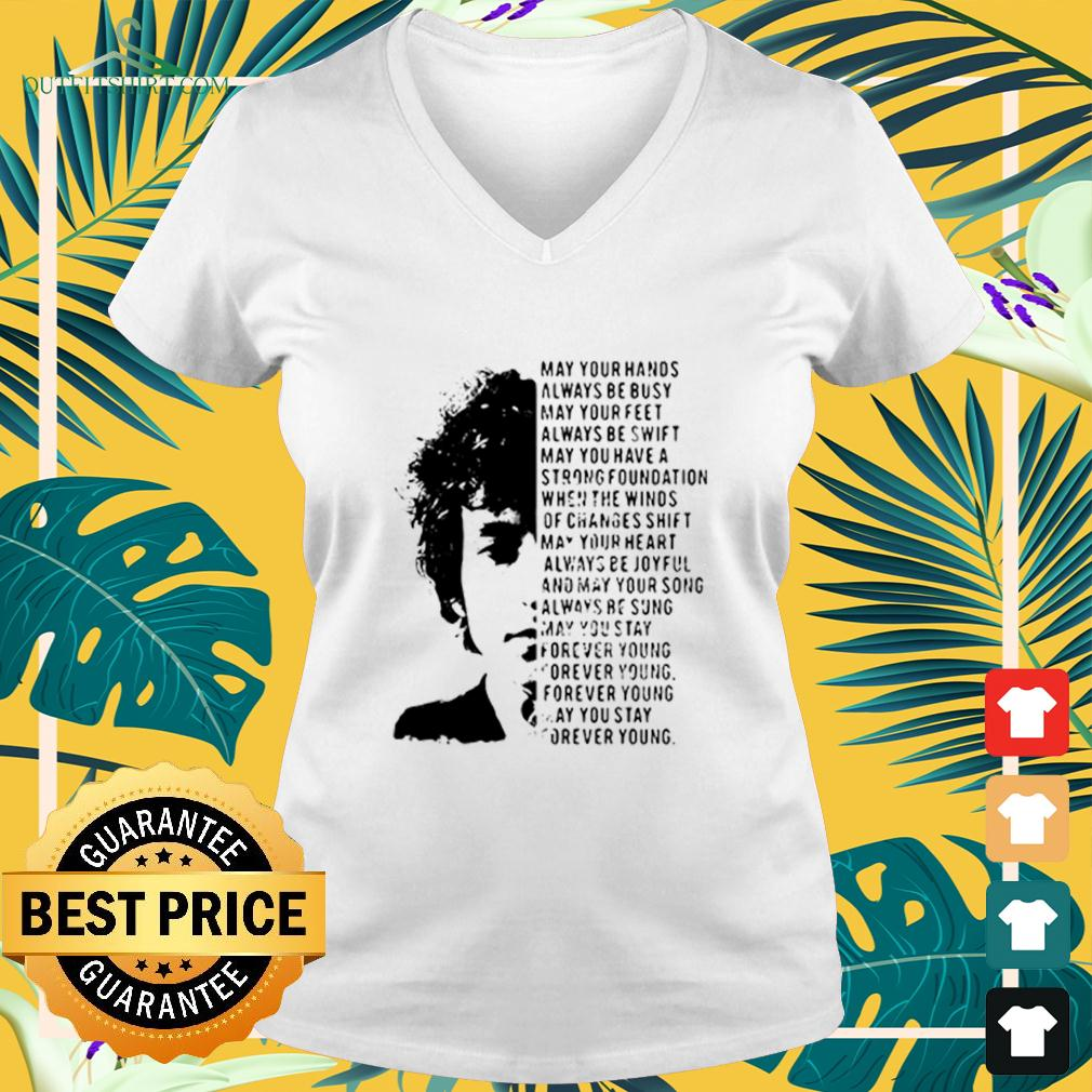Jimi Hendrix May Your Hands Always Be Busy May Your Feet Always Be Swift May You Have A Strong Foundation v-neck t-shirt