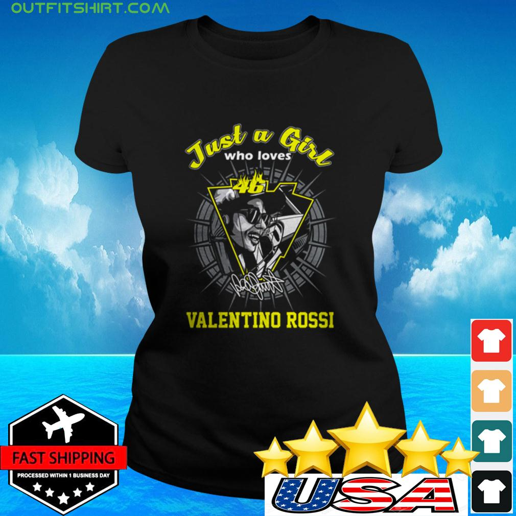 Just a girl who loves 46 Valentino Rossi signature ladies-tee