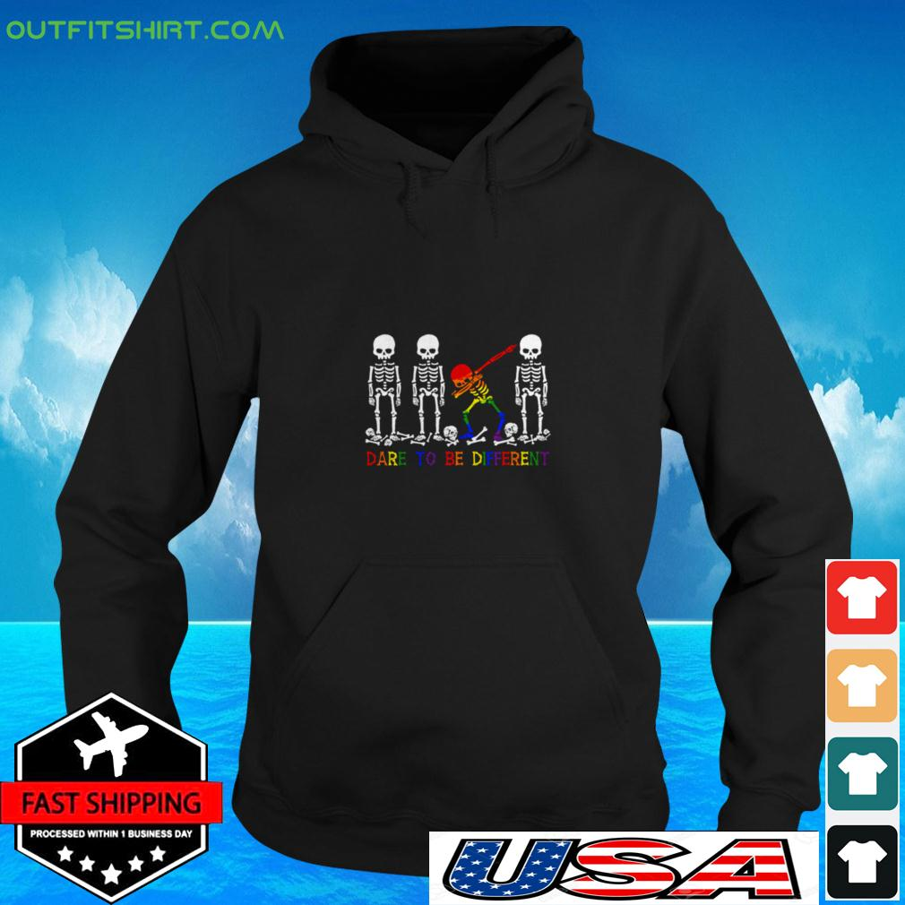 LGBT Skull dare to be different hoodie