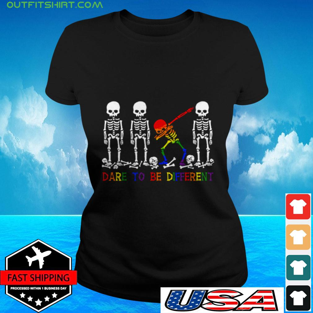 LGBT Skull dare to be different ladies-tee