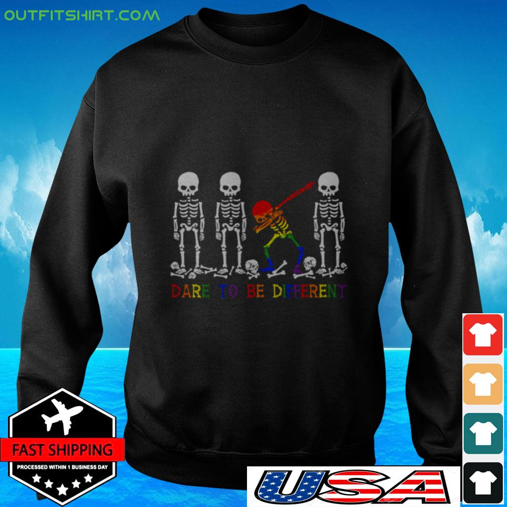 LGBT Skull dare to be different sweater