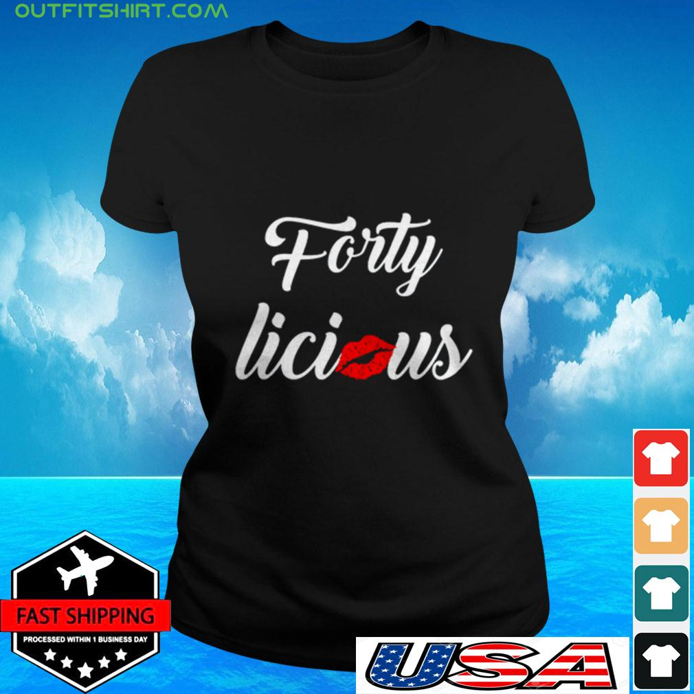 Lips kiss forty licious ladies-tee